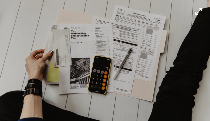 a person reviewing tax documents